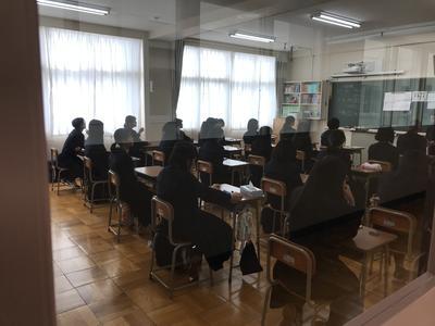 中間試験の教室