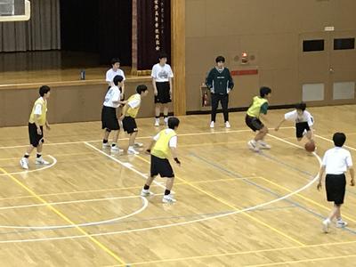 バスケットボール部の練習